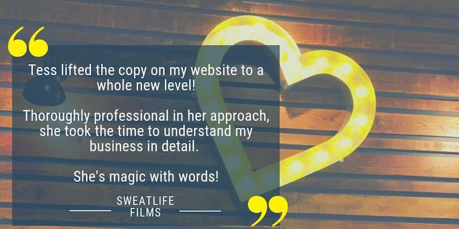 Freelance copywriter Tess Agnew