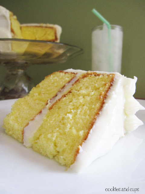 LEMONADE #CAKE WITH #LEMON CREAM #CHEESE FROSTING