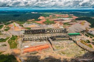 La presa de Belo Monte-Amazonia