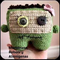 Monstruos, robots y alienígenas amigurumi