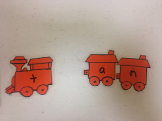 Train blending word families