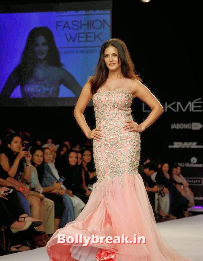 , Sunny Leone Lakme Fashion week 2014 Pics