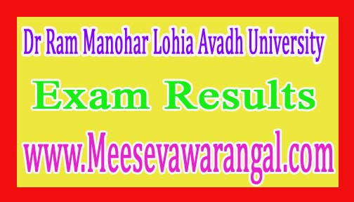 Dr Ram Manohar Lohia Avadh University MA Final Geography Back Paper Exam Results 2016