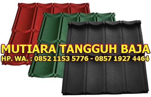 Jual Genteng Metal Berpasir 2x4 Murah Perlembar 2018-2019 Jakarta Timur