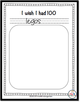 100th day writing, I wish I had 100, Time4kindergarten