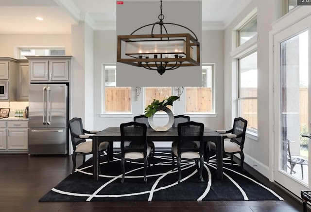 New Home Lighting Options-Dining Room-Chandelier-Modern Farmhouse-Rustic-From My Front Porch To Yours