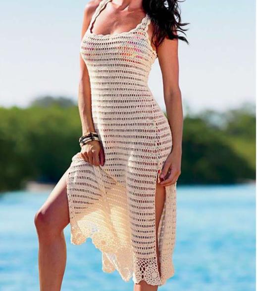 629004f9b8 Plażowa szydełkowa sukienka MAXI