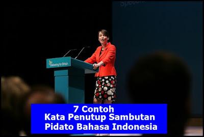 7 Contoh Kata Penutup Sambutan/Pidato Bahasa Indonesia