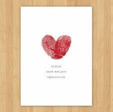 thumbprint heart save date