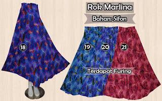 Rok sifon panjang murah terbaru model payung motif dan polos
