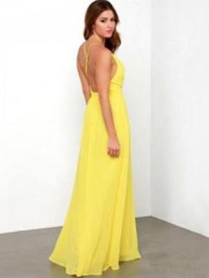 Backless maxi dress