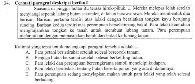 Melengkapi Teks Deskripsi Zuhri Indonesia