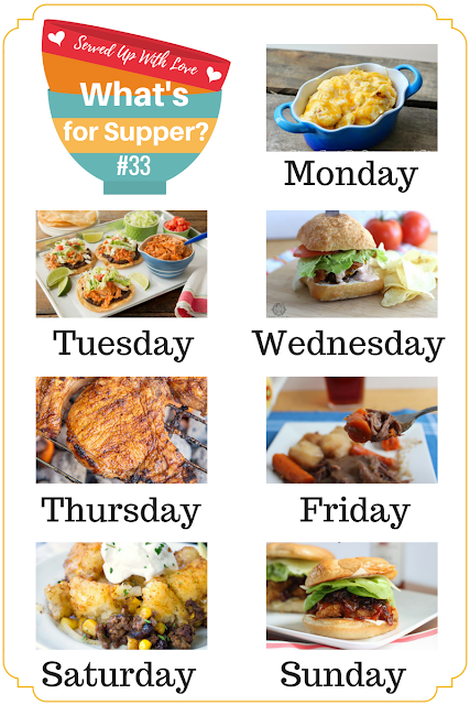 What's for Supper Sunday recipes include Chipotle Ranch Burgers, Steakhouse Pork Chops, Extra Cheesy Crock Pot Macaroni and Cheese, Banana Pudding Parfaits, and so much more.