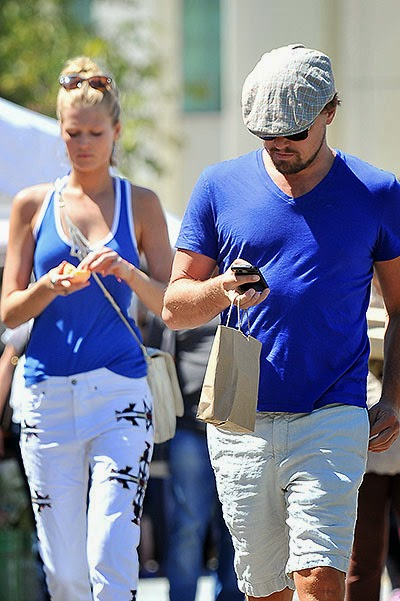 Leonardo DiCaprio and Toni Garrn on the market in Beverly Hills