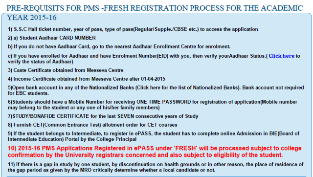 TS / Telangana epass renewal /fresh online apply checklist