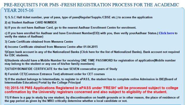 TS / Telangana epass renewal /fresh online apply checklist