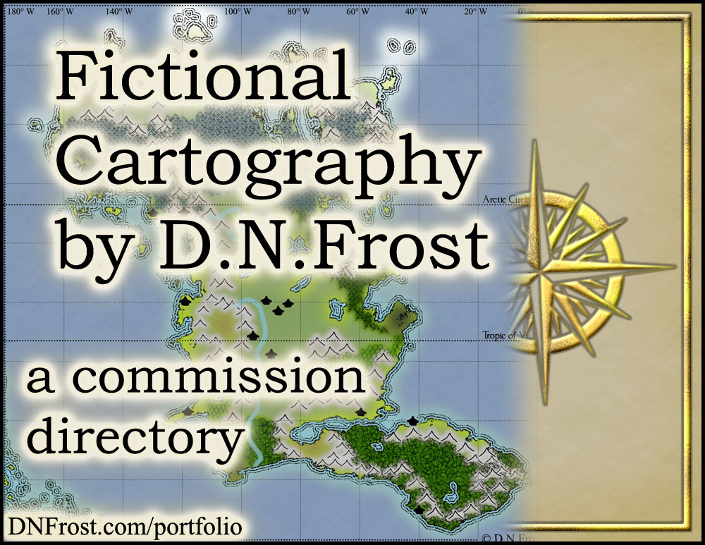 Fictional Cartography by D.N.Frost: download your free map commission guide http://www.dnfrost.com/2017/04/fictional-cartography-by-dnfrost.html A resource directory by D.N.Frost @DNFrost13 Part of a series.