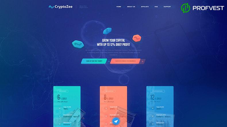 CryptoZee обзор и отзывы HYIP-проекта