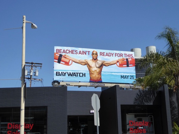 Dwayne Johnson Baywatch billboard
