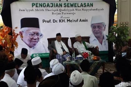 """KH Ma'ruf Amin: """"Kalau Pak Jokowi yang Mati Duluan, Saya yang Naik Jadi Presiden"""""""