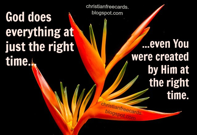 God created you right time christian free card motivational inspirational. Free images facebook