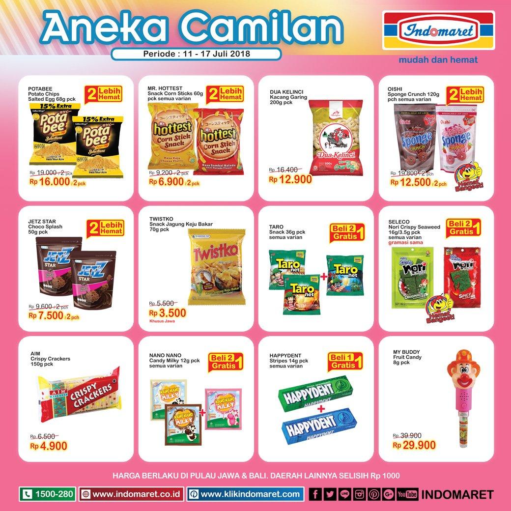 Indomaret - Promo Diskon Aneka Camilan (11 - 17 Juli 2018)