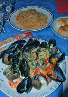 Seafood Pasta Dinner Venice Italy