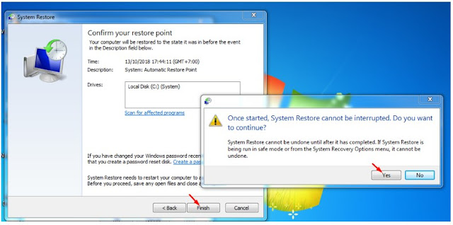 System Restore di Windows