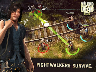 The Walking Dead No Man's Land fight walkers. survive