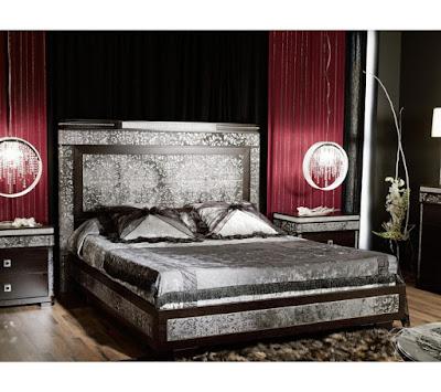 158c3bb956686 Luxusné zadné čelo postele so strieborným lemovaním Inspiration