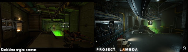 Half-Life - Project Lambda-Black mesa - green toxic waste Comparison