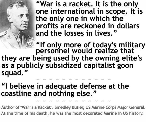 War Is A Racket, Says Late USMC Major General