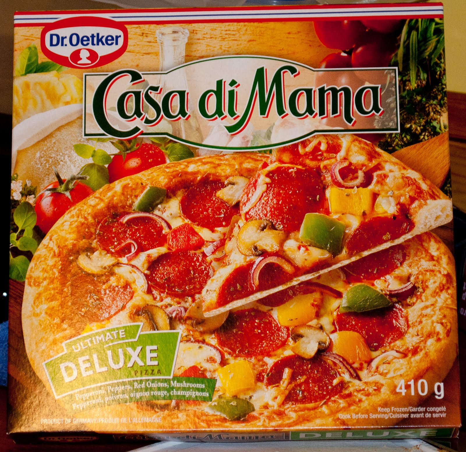 what elephant eats frozen pizza dr oetker casa di mama ultimate deluxe. Black Bedroom Furniture Sets. Home Design Ideas