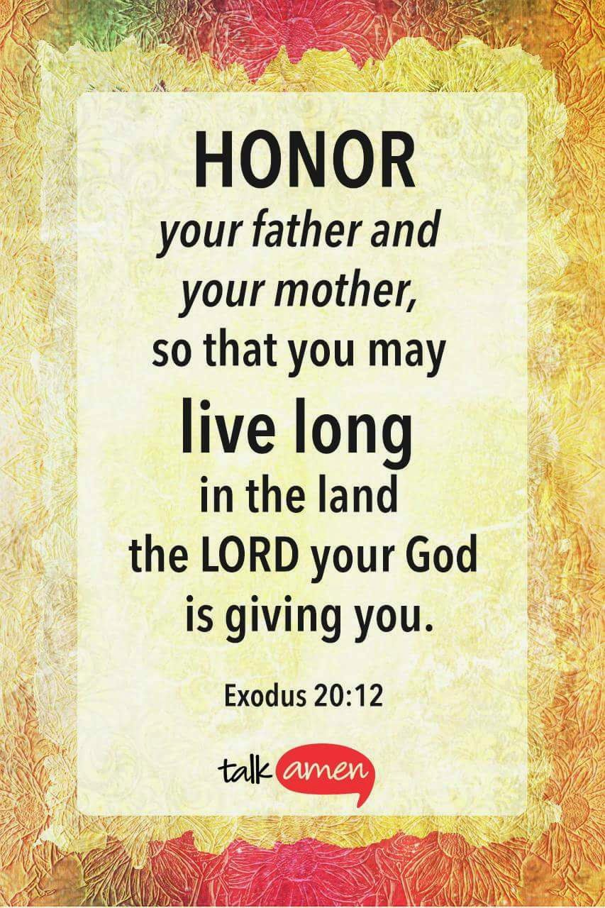 Anita Hewitt: Respect Your Parents...... Exodus 20:12