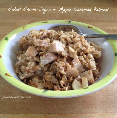 Baked Brown Sugar & Apple Cinnamon Oatmeal