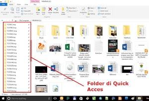 Cara menghilangkan folder yang banyak terpin di Quick Acces windows 10