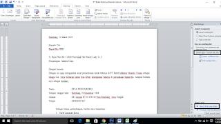 Mailing Surat di Ms. Word
