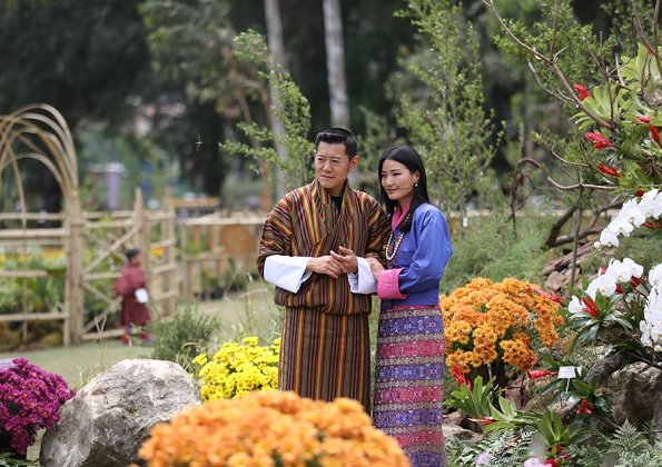 King Jigme Khesar Namgyel Wangchuck and Queen Jetsun Pema opened the 4th Royal Bhutan Flower Exhibition at the Thangzona