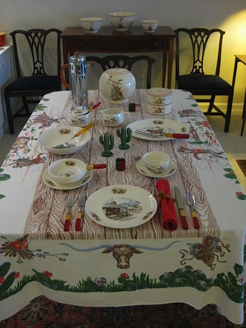 Richard S Tablecloths Startex Western Theme