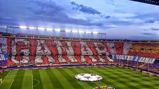 Fotografía del Vicente Calderón estadio del Atlético de Madrid