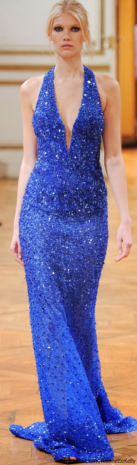 amazing royal blue Zuhair Murad gown, F/W 2013