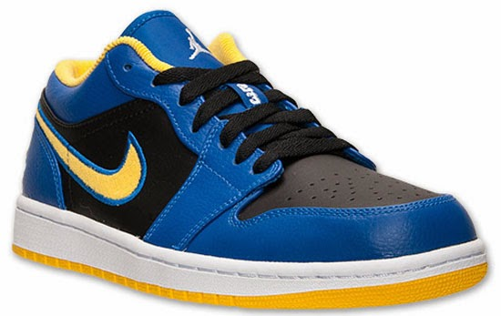 buy online eafd8 d3c6e This Air Jordan 1 Retro Low comes in a game royal, white, black and varsity  maize colorway. Known as the