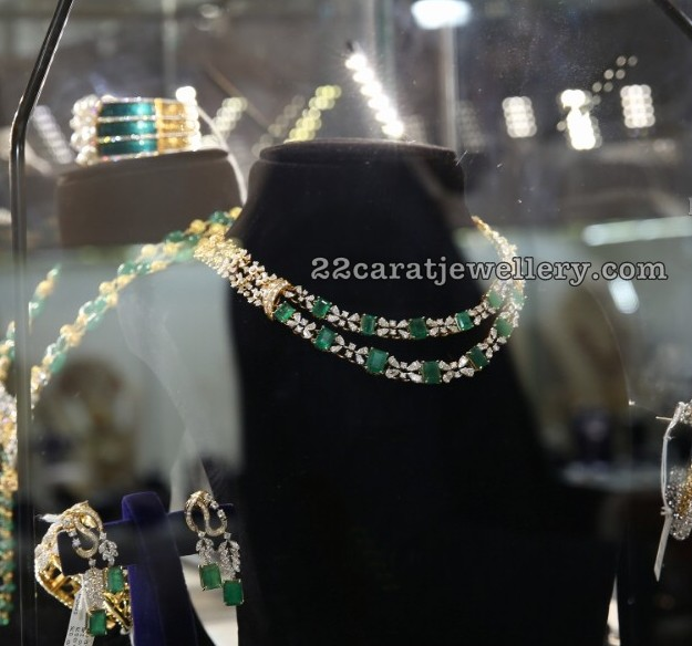 Diamond Emerald Sets by Nikitha Jewellery