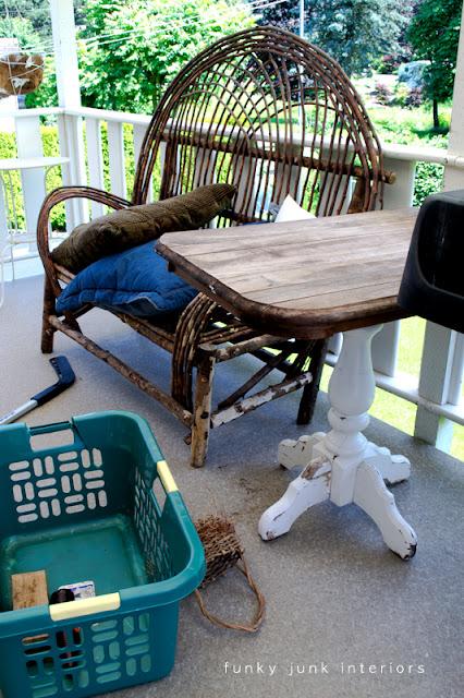 messy patio