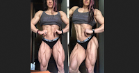 Female bodybuilder muscle woman