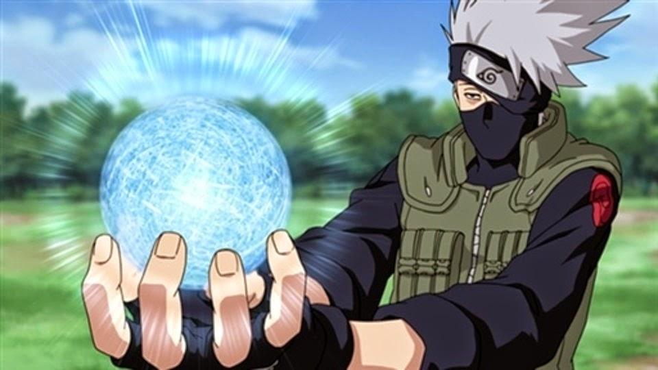 Kakashi haciendo el RASENGAN