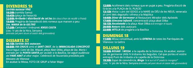 Romeria a Montserrat, parròquies de Vilanova i la Geltrú. 2016