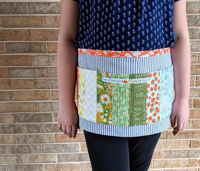 Mazy's Wonderland Crafty Half Apron by Heidi Staples for Fabric Mutt