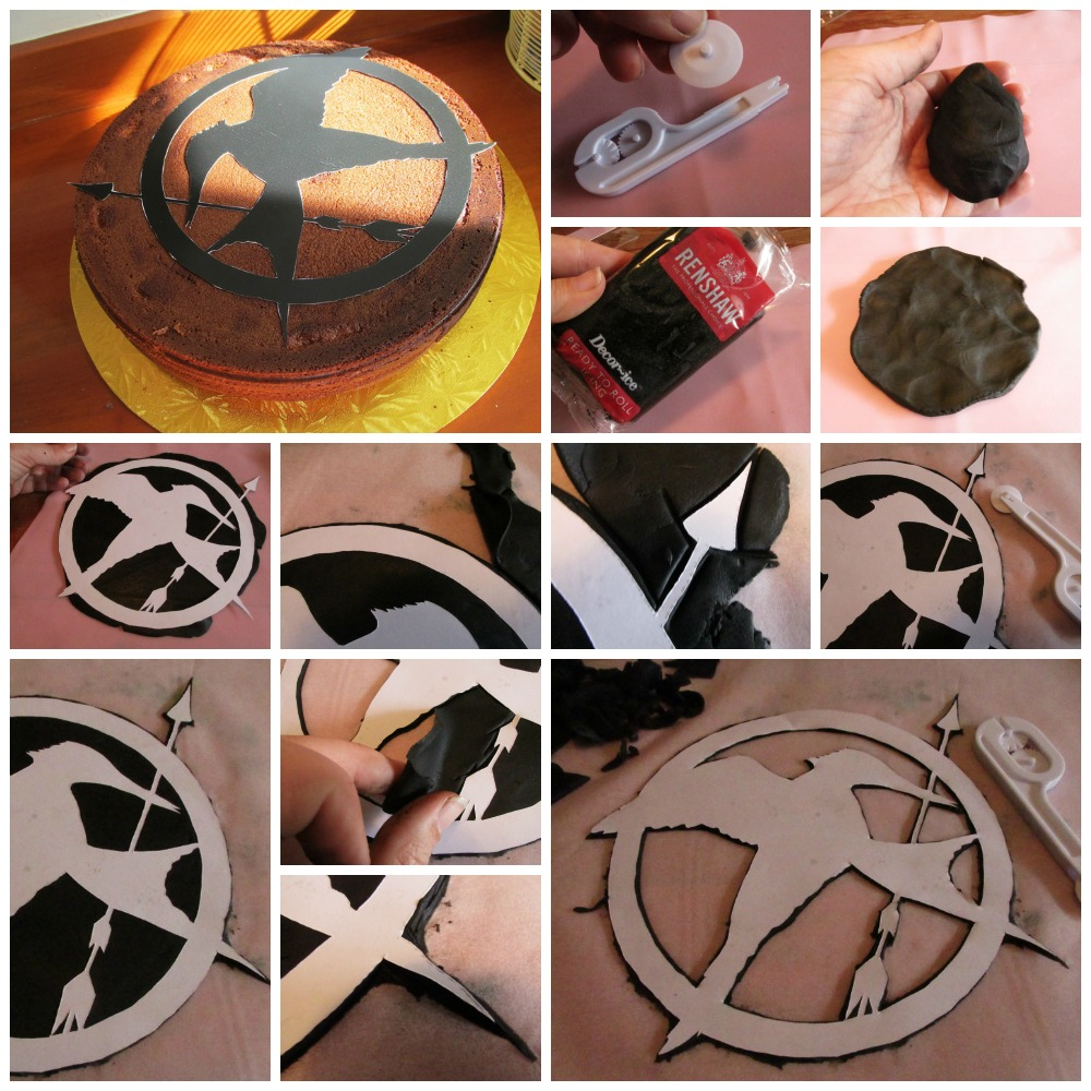 How to make a fondant Mockingjay