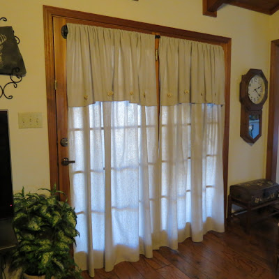 Timeless Treasures Painter Drop Cloth French Door Drapes